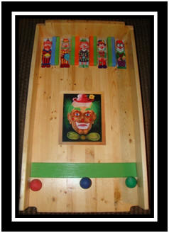 Ball roll game - green clown