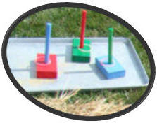 Portable ring toss carnival game